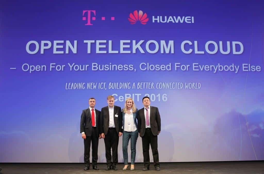 도이치텔레콤과 화웨이가 화웨이 기자간담회에서 '오픈 텔레콤 클라우드'를 공동 발표했다.