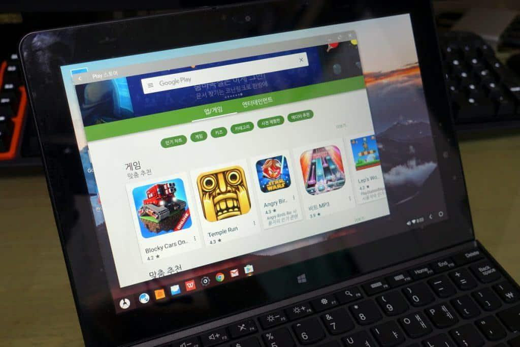 피닉스OS는 설치와 동시에 구글플레이를 이용해 기존 안드로이드 마켓을 그대로 이용할 수 있어 편리하다.