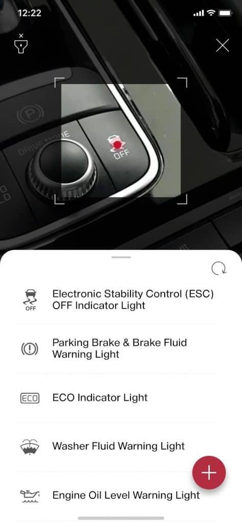 기아 오너스 매뉴얼 앱의 구글 클라우드 AI플랫폼으로 스위치 인식 사진