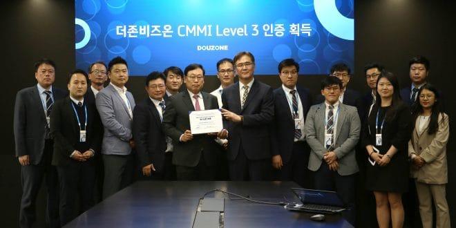 더존비즈온 CMMI 인증 기념촬영